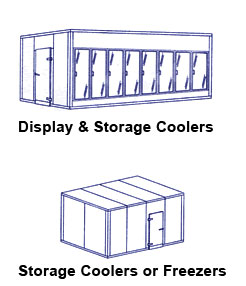 Storage And Display Coolers Models Image - American Cooler Technologies