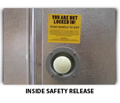 Walk-In Freezer Inside Safety Release Image - American Cooler Technologies