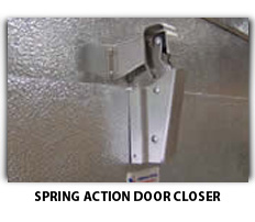 Photo Of Spring Action Closer For Freezer Replacement Door - American Cooler Technologies