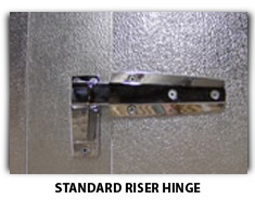 Standard Riser Hinge Photo For Freezer Replacement Doors - American Cooler Technologies